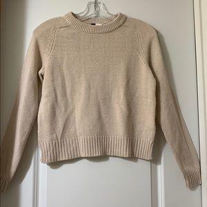 cream-colored sweater